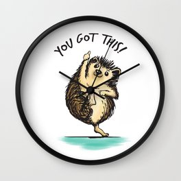 Motivational Hedgehog Wall Clock