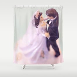 Bride and Groom - bridal shower gift or wedding gift Shower Curtain