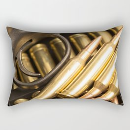 Rifle Trigger and Bullets Rectangular Pillow