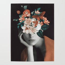 WOMAN WITH FLOWERS 7 Poster