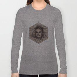 Audrey Hepburn dot work portrait Long Sleeve T-shirt