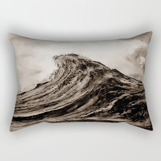 The WAVE - sepia Rectangular Pillow