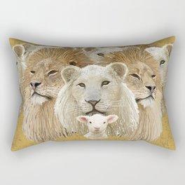 Lions led by a lamb Rectangular Pillow