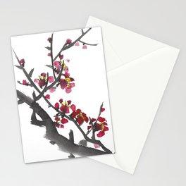 Plum Blossom One Stationery Cards