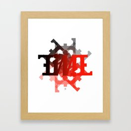 "Ambigram ""TIME"" spiral Framed Art Print"