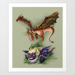 Baby Dragons Art Print