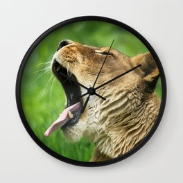 Yawning Lion Wall Clock