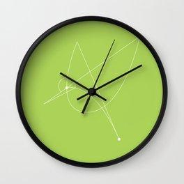 Contours: Hummingbird (Line) Wall Clock