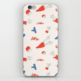 Minimal retro pattern with carrot&celery iPhone Skin