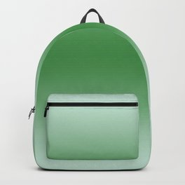 Pastel Green to Green Horizontal Bilinear Gradient Backpack