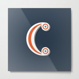 The Letter C Metal Print