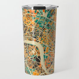 London Mosaic Map #3 Travel Mug