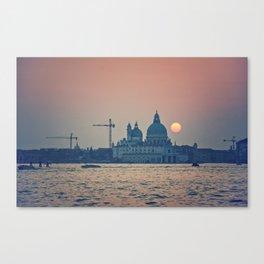 sunset at Venice under construction Canvas Print