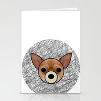 chihuahua Stationery Cards featuring Chihuahua by lllg
