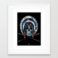 indian Framed Art Prints featuring Indian by Guilherme Rosa // Velvia