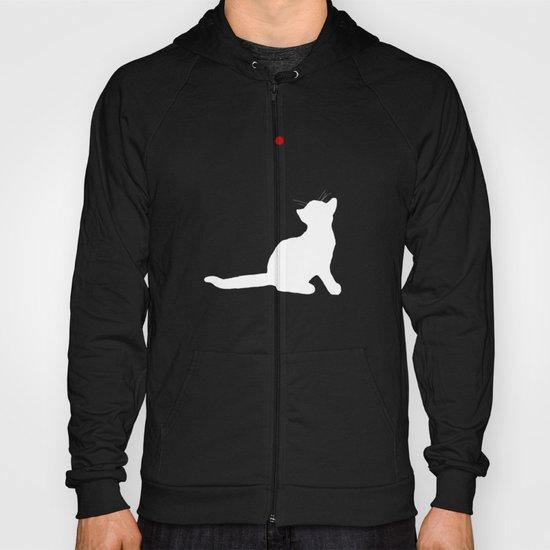 Cat and Laser Cute Minimalistic Animal Portrait Hoody