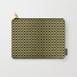 tile 2 black / gold Carry-All Pouch