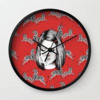 tenenbaum Wall Clocks featuring Margot Tenenbaum by Ester Dus