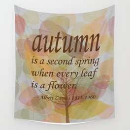 "Albert Camus Quote, ""Autumn is..."" 8x10 print Wall Tapestry"
