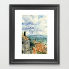 A View of Lacoste, France Framed Art Print
