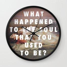 Rogelio de Egusquiza, Tristan und Isolde (1915) / Halsey, Ghost (2014) Wall Clock