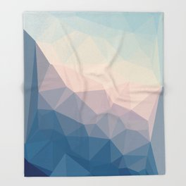 BE WITH ME - TRIANGLES ABSTRACT #PINK #BLUE #1 Throw Blanket
