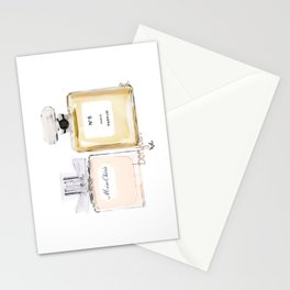 2 lovely perfume, fashion & love Stationery Cards
