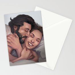 Marcus and Abby cuddling Stationery Cards