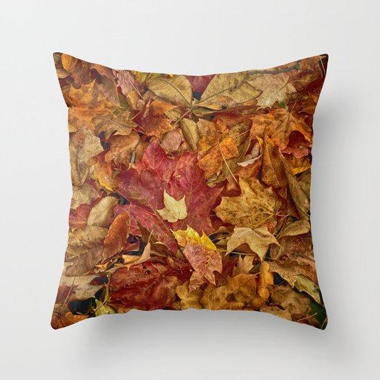 Falls textures Throw Pillow