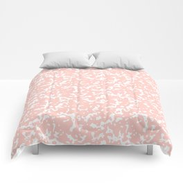 Pink and White Composition Notebook Comforters