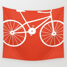 Red Bike by Friztin Wall Tapestry