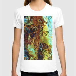 Colorful Wood Spirals Background #Abstract #Nature T-shirt