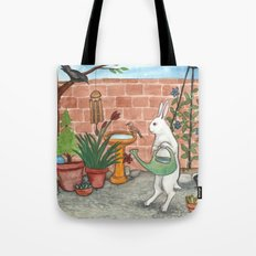 Rabbit's Garden Tote Bag