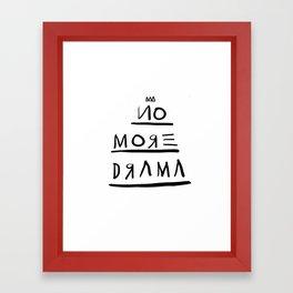 Basquiat No More Drama Framed Art Print
