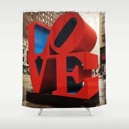 Love Sculpture - NYC Shower Curtain