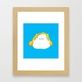 Peek-a-boo Pizza Cat Framed Art Print