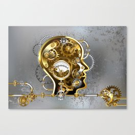 Steampunk Head with Manometer Canvas Print