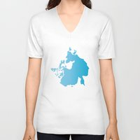 canada V-neck T-shirts featuring Canada by johnkark