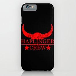 Haflinger crew wild west emblem red iPhone Case