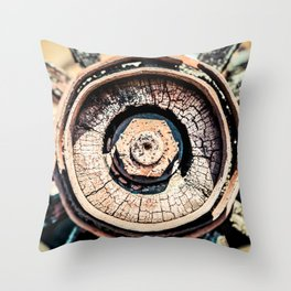 The Rusted Wheel Throw Pillow