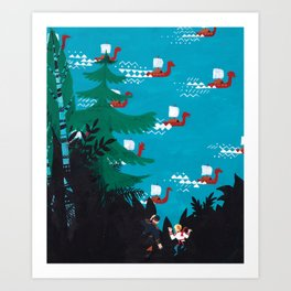 Russian Folk Tales - Bird´s Tongue Art Print