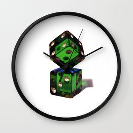 Rigged dices Wall Clock