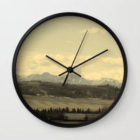 canada Wall Clocks featuring Canada by J.Sowden