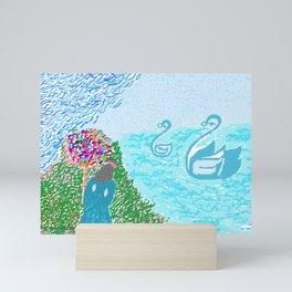 LEDA  AND THE SWAN Mini Art Print