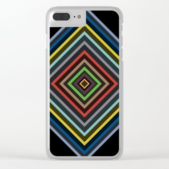 Colorful Geometric Pattern VI Clear iPhone Case