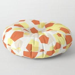 Pentagon yellow red grey Floor Pillow