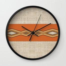 Southwestern Earth Tone Texture Design Wall Clock