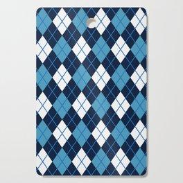 Blue White Argyle Cutting Board