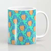 squirtle Mugs featuring Squirtle Squad by pkarnold + The Cult Print Shop