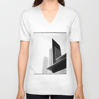 buildings V-neck T-shirts featuring City Buildings by Ewan Arnolda